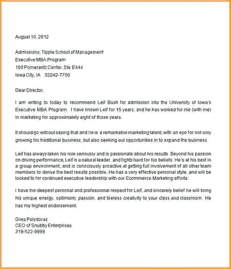 Who To Ask For Letters Of Rec For Mba by Letters Of Recommendation Exles Citybirds Club