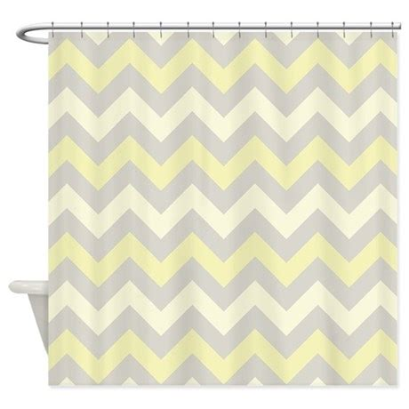 yellow and gray chevron shower curtain yellow and grey zigzag pattern shower curtain by zandiepants
