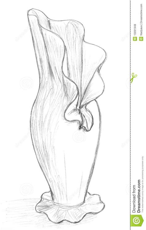 How Do You Draw A Vase by Original Vase Sketch Royalty Free Stock Photos Image