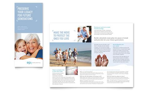 estate planning tri fold brochure template word publisher