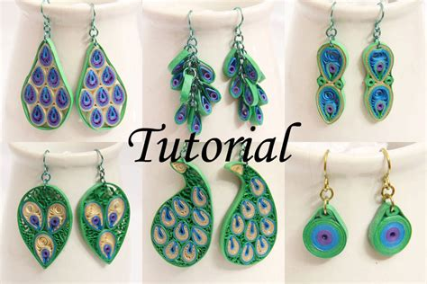 paper quilling earrings tutorial tutorial for paper quilled peacock earrings pdf peacock