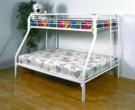 twin bunk beds white save big on twin over full metal bunk bed white