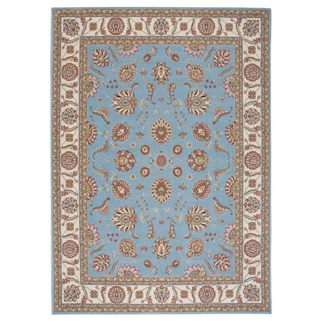 overstock blue rug nourison overstock modesto vines blue 7 ft 10 in x 10 ft 6 in area rug 184146 the home depot