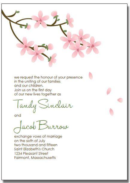 free templates for invitations mac printable apple blossom wedding invitations diy printable