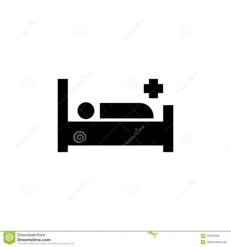 cama hospital website paciente en icono de la cama de hospital ilustraci 243 n del