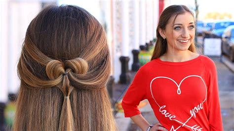 hairstyle design youtube how to create a pancaked heart half up hairstyle