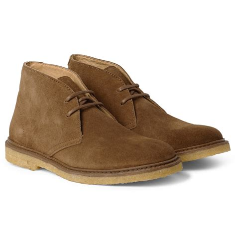 desert boots a p c suede desert boots in brown for lyst