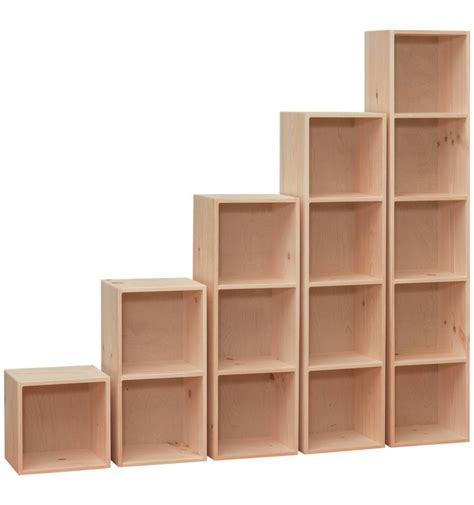 Pine Bookcases Unfinished 14 Inch Cubes Amp Cubbies Burr S Unfinished Furniture