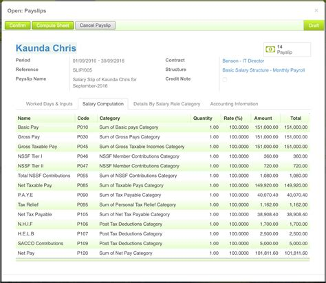 payroll  hr system  kenya odoo apps