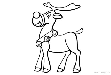 rudolph the nosed reindeer coloring pages reindeer coloring pages rudolph the nosed free