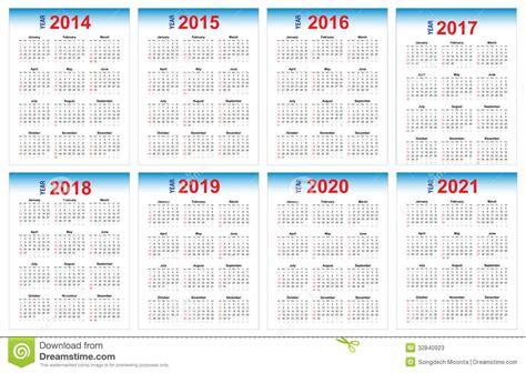 Calendario De 2025 Calendar 2014 2021 Stock Photos Image 32840923