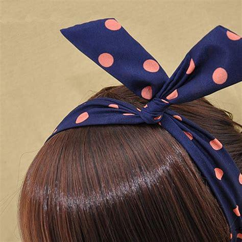 Rabbit Ear Shape Hair Tie korean trendy rabbit ear hair ribbon wire tie ponytail headband hairband ebay