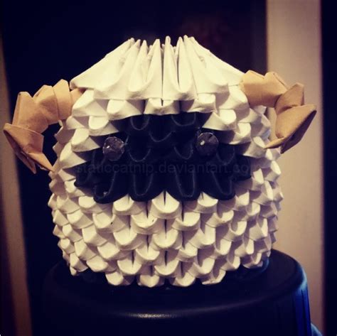 3d Origami Sheep - 3d origami ffxiii sheep by inyeon on deviantart
