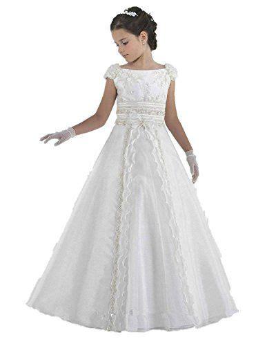 communie jurken c a luckyhouses white kids first communion dress long flower