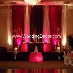 brown fuchsia wedding reception backdrop a brown and