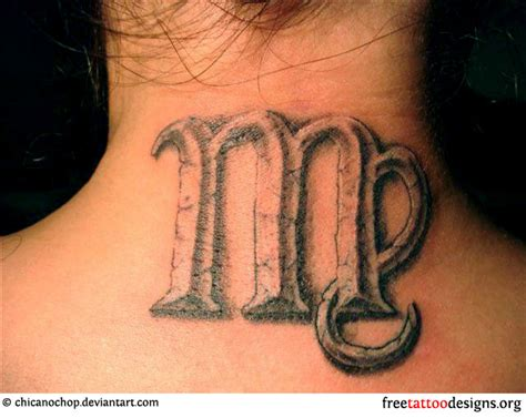 virgo tattoo on neck virgo tattoos 50 designs and ideas