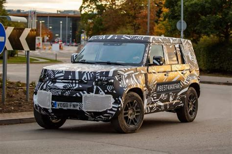 land rover defender 2020 land rover defender 2020 233 flagrado em testes no reino unido