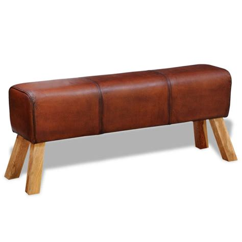 genuine leather bench genuine goat leather ottoman bench in brown 120cm buy leather ottomans