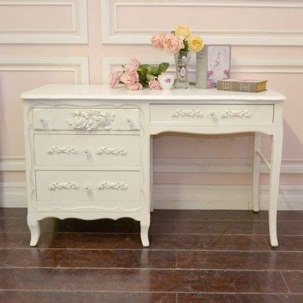 sweet 4 drawer writing desk in white with roses 795 00