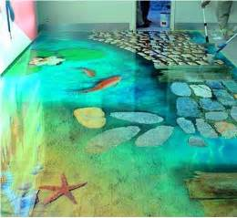 3d flooring ideas and 3d bathroom floor murals designs