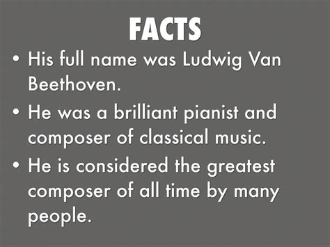 biography facts about beethoven beethoven facts