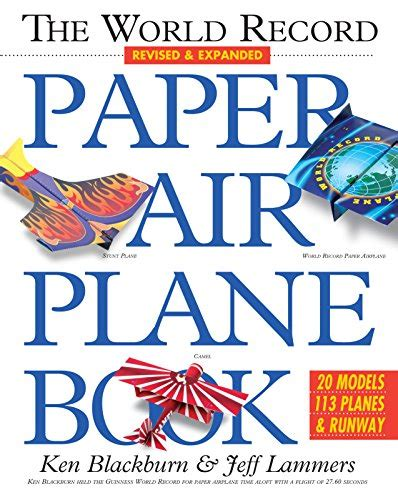 book of paper airplanes 1570548307 the world record paper airplane book paper airplanes import it all