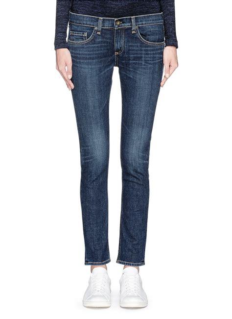 lyst rag bone tomboy slim fit jeans  blue