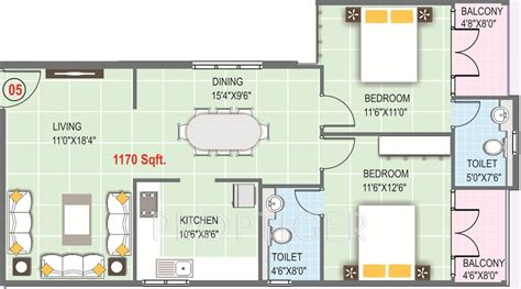 Sas Floor by 1170 Sq Ft 2 Bhk 2t Apartment For Sale In Rmk Builder Sas