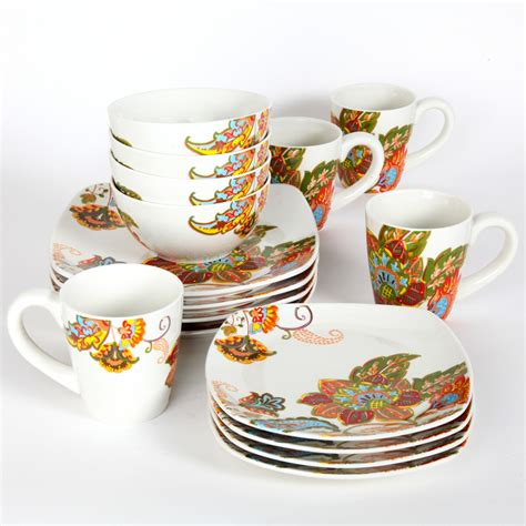 better homes and gardens floral spray 16 dinnerware set