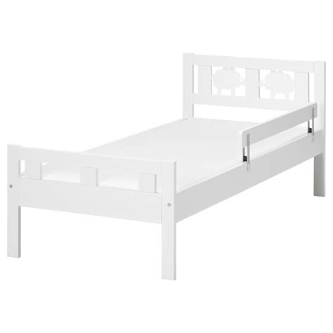 Bed Frame With Slatted Bed Base Kritter Bed Frame With Slatted Bed Base White 70x160 Cm Ikea