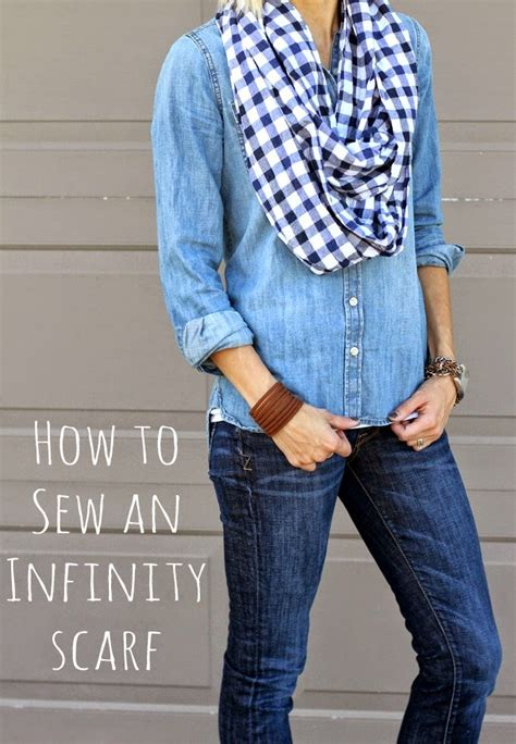how to sew an infinity scarf tutorial one momma
