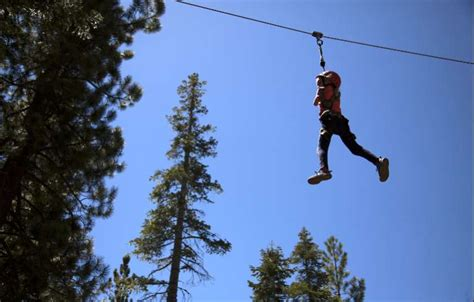 tahoe rope swing ropes course tests physical strength lake tahoe