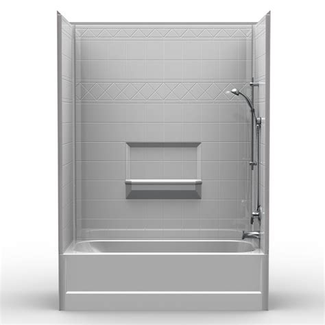 1 bathtub shower multi piece tub shower 60 quot x 30 quot x 84 1 2 quot shower tub