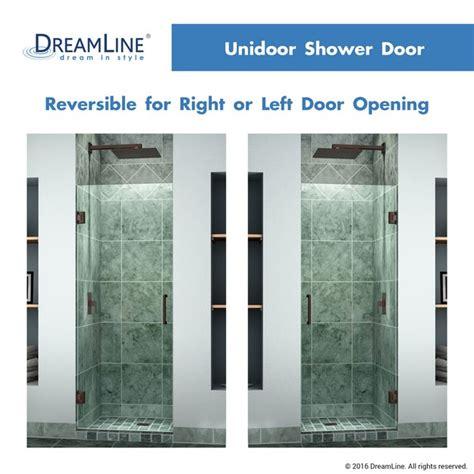 dreamline shdr 20257210f unidoor 25 inch frameless hinged