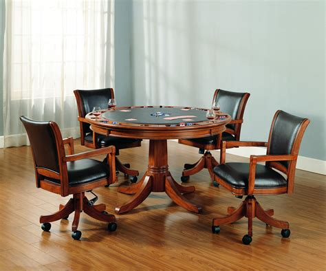 oaks card room oak card table set classic table for the room in medium brown oak finish