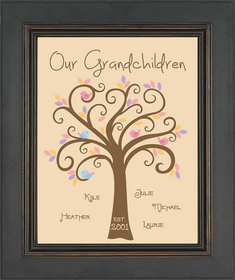 for my grandchild a grandparent s gift of memory books grandparents gift family tree with grandkids birds and