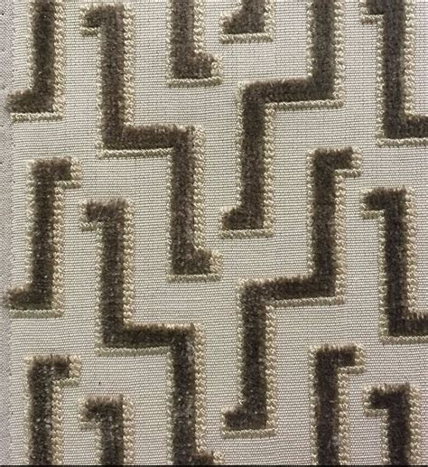 Zig Zag Upholstery Fabric by Brentano Cut Velvet Upholstery Fabric Zig Zag Pinking