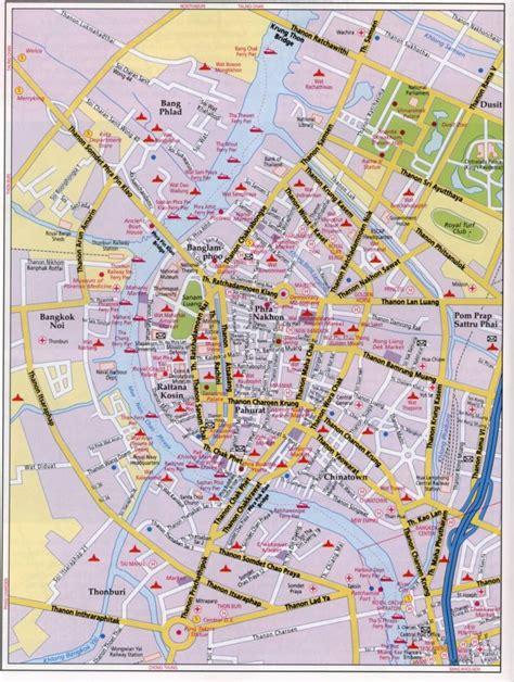 bangkok map bangkok maps teakdoor the thailand forum