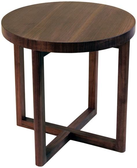 Circle Side Table by Cross Leg Side Table Walnut Interiors
