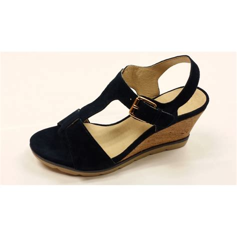 Wedges Js42 By Jenn Shoes mirror navy suede open toe wedge sandals