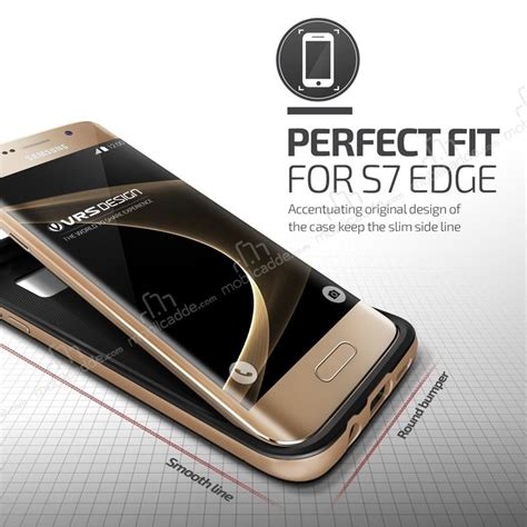 Verus Galaxy S7 High Pro Shield Shine Gold verus high pro shield samsung galaxy s7 edge shine gold kılıf