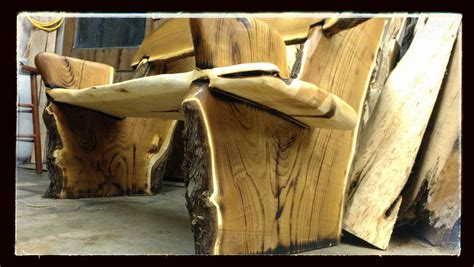 rustic bench hand made live edge rustic bench crotch wood slabs by juniper canyon design