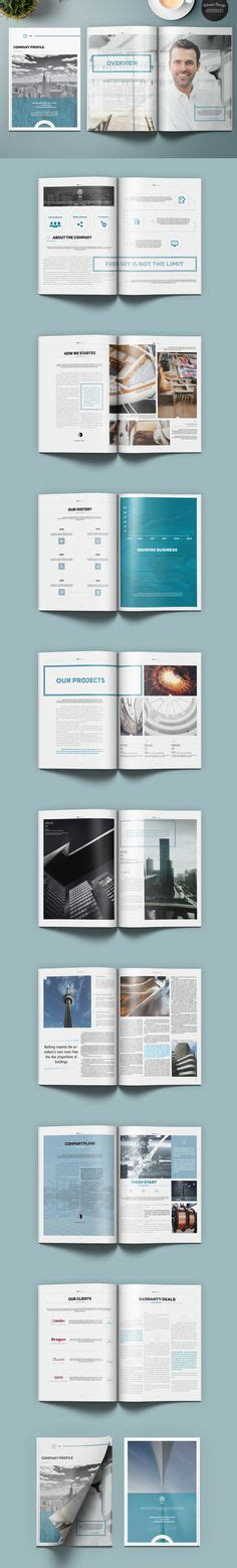 company profile indesign template clean professional company profile with include