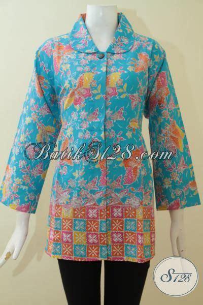 Baju Ibu Resmi baju atasan batik untuk wanita til modis dan keren blus batik halus dan adem yang bisa untuk