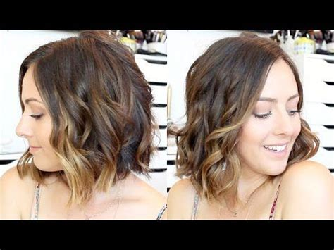 beachy waves for short gair with remington wand how to curl hair with a straightener curling wand