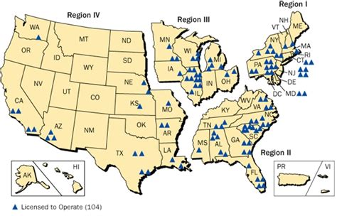 map us nuclear plants nuclear power in the united states
