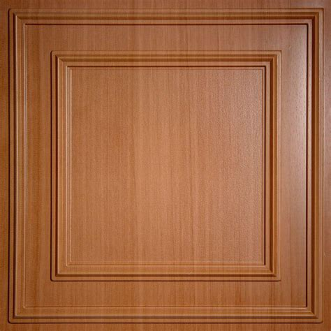 Faux Wood Ceiling Tiles Ceilume Cambridge Faux Wood Caramel 2 Ft X 2 Ft Lay In