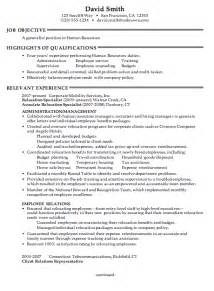 Best Resume Format For Hr Generalist by Sample Senior Hr Generalist Resume Submited Images