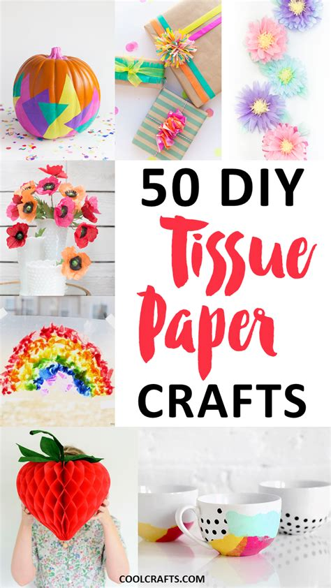 Things You Can Make With Paper - tissue paper crafts 50 diy ideas you can make with the