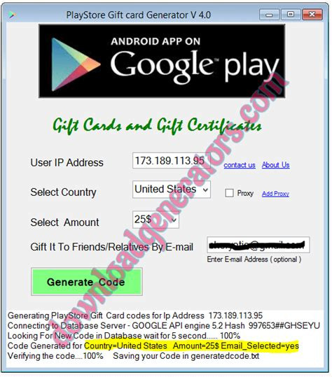 Printable Google Play Gift Card - free google play gift card codes list